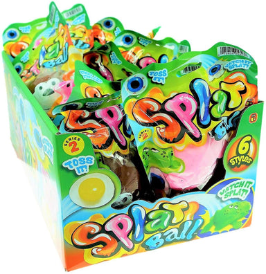 JA-RU Splat Ball Sticky & Stretchy (Pack of 24 with 1 Display Box) Sensory Stress Relief Toy, Party Favor Pinata Filler. Plus One Collectable Ball N5303-24p