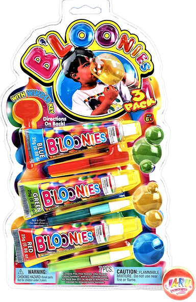 B'loonies Plastic Balloon Variety Large (3 Large Tubes) Great Original Bloonies Bubble Making. 770-1A