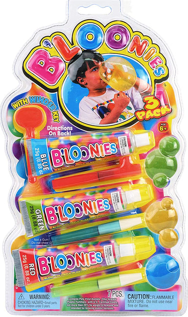 B'loonies Plastic Balloon Variety Large (3 Large Tubes) Great Original Bloonies Bubble Making. 770-1p