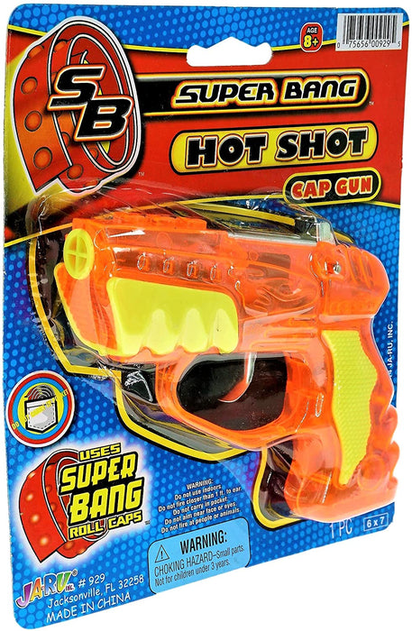 JA-RU Cap Gun Super Bang Hot Shots (1 Unit ) Quality Plastic Great Bang Party Favors Supplies for Kids. 929-1A
