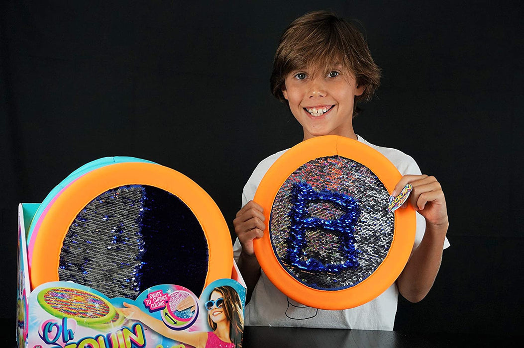 "JA-RU Sequin Soft Frisbee Throwing Disc Splash Fun Aqua Flyer 12"" (1 Unit Assorted) Flying Discs for Kids & Adult Toys. Safe Easy and Professional. Plus 1 Bouncy Ball. 4637-1p"