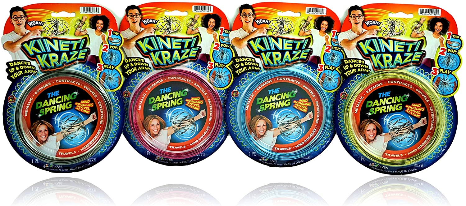 JA-RU Kinetic Flow Ring (Pack) Sensory Rings Metal Slinky Fidget Bracelet Arm Slinky Spiral Bracelet Party Favor | Item #785-1sl