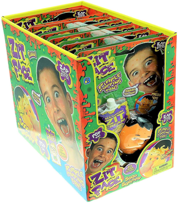 JA-RU Zit Face Pimple Popping (Pack of 1) Joke Pop It Toy Squeeze Acne Funny Toys Pimple Popping Stress Toy, Gag Gifts Peach Pus Popper Toy Remover. Stop Picking Your Face Gross Gifts 4450-1A