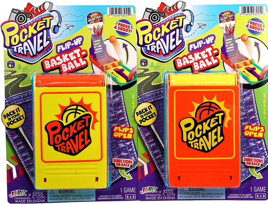 Mini Basketball Game Portable Pocket Board Games (Pack of 1) by JARU. Assortment of Classic Toys Party Favors Toy| Item #3255-1