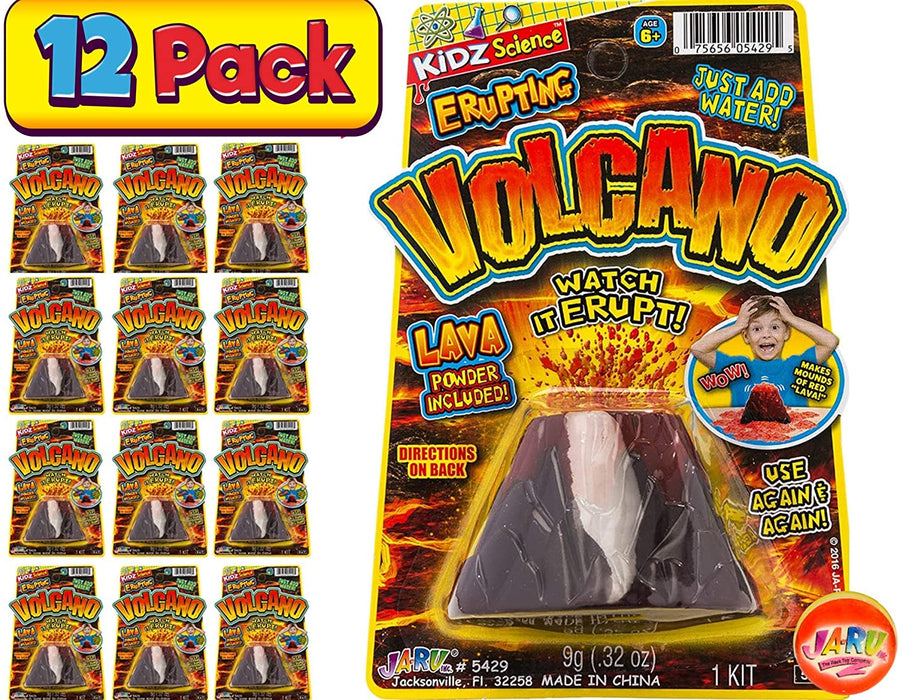 2CHILL Erupting Volcano Science (Pack of 12) by JA-RU | Educational Toys Science Experiments | Item #5429-12