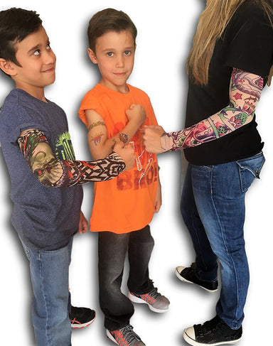 Tattoo Sleeves for Men Women & Kids Arm (6 Pack) by JA-RU. Sleeves Great Party Favor. 83-6