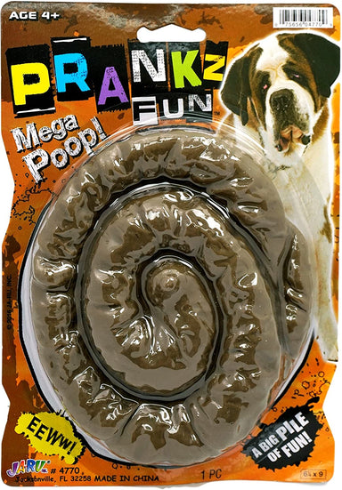 Fake Large Dog Poop or Human Prank. Realistic Looking Crap Pile Party Favor | Item #4770-1A