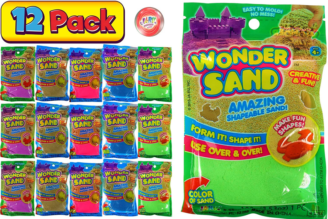 JA-RU Wonder Sand Like Kinetic Mad Molding Magic Play Sand Toy Kit (1 Pack Assorted Color) Therapy Magic Sensory Toys Stress Relief Sand Fluff ADD Autistic, 5820-1
