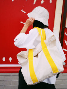 Roll Down Canvas Tote