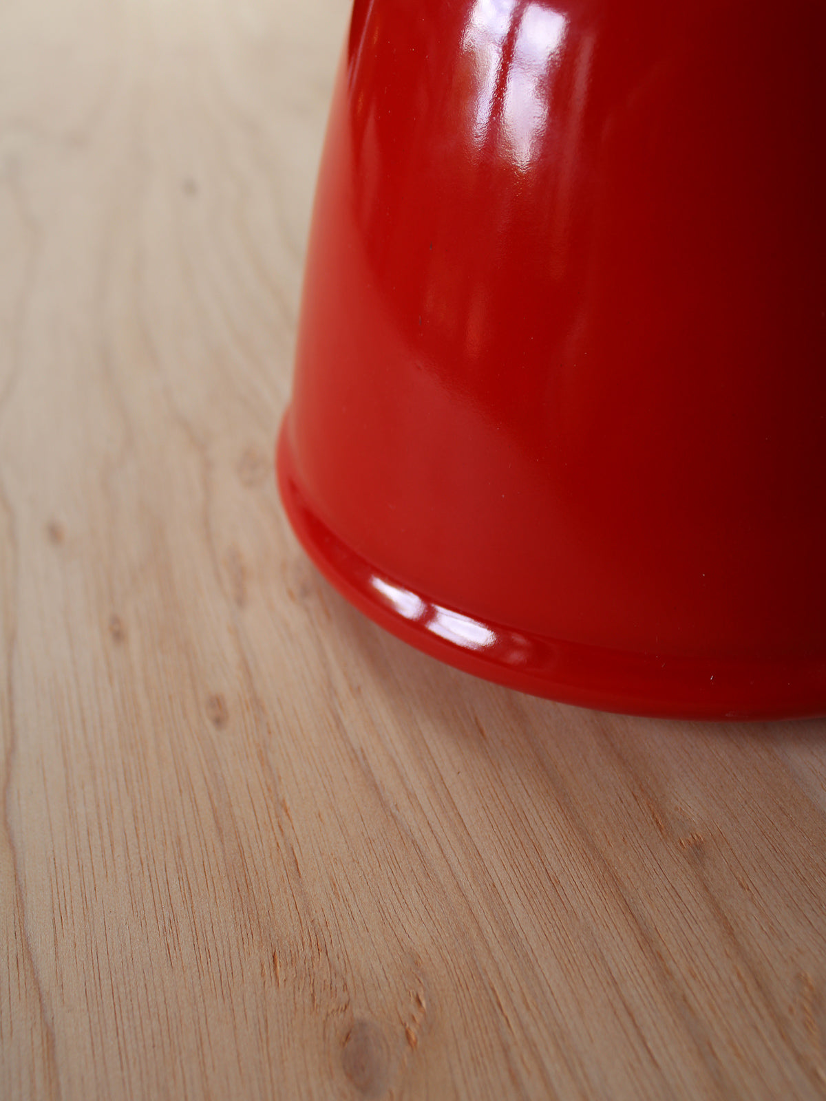Red Stove-top Kettle, Thin Spout