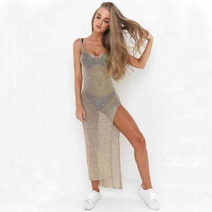 Fashion Mesh Cover Up Sarong Sexy Beach Dress
