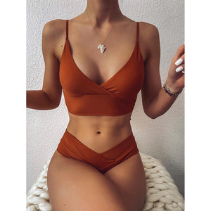 High Waist Bikini Women's Swimwear Bathing Suit Woman Swimsuits Sexy Bikinis Set