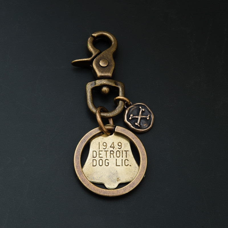 DOG TAG KEY RING -  DETROIT '49