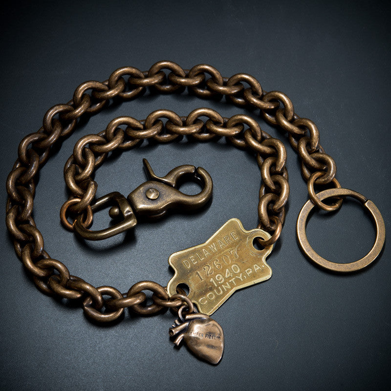 DOG TAG WALLET CHAIN - PA '40