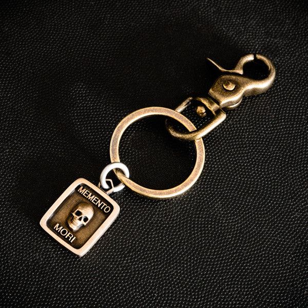 Memento Mori Key Ring-Bronze & Brass - DEJAVITA