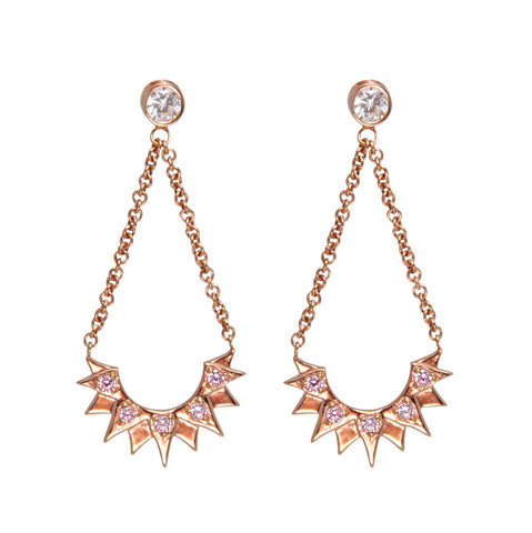 Aretes Bianca Rose Gold