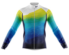 Fat Lad At The Back plussize, plus-size, plus size cyclewear. Long-sleeve waterproof and windproof cycling jersey in Yorkshire design