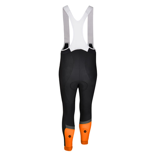 Mens Orange Stealth Jewel Reflective Thermal Padded Cycling Bib Tights