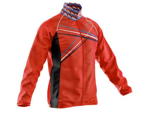 Mens Red 3 Min Cycling Rain Jacket