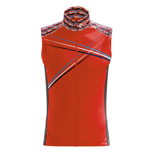 Big and Tall Mens Red 3 Min Cycling Gilet