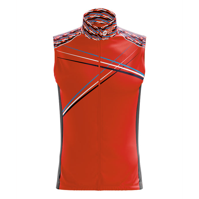 Mens Red 3 Min Cycling Gilet