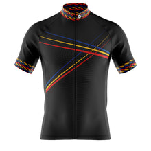 Load image into Gallery viewer, Big and Tall Mens Black 3 Min Cycling Jersey