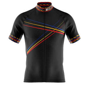 Big and Tall Mens Black 3 Min Cycling Jersey