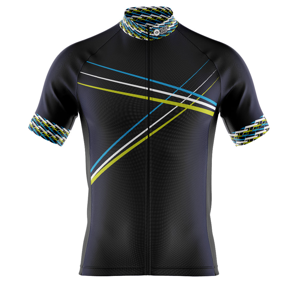 Mens Blue 3 Min Cycling Jersey