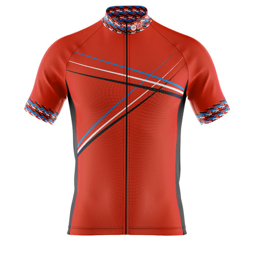Big and Tall Mens Red 3 Min Cycling Jersey