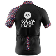 Load image into Gallery viewer, Big and Tall Mens Black Classic Cycling Jersey