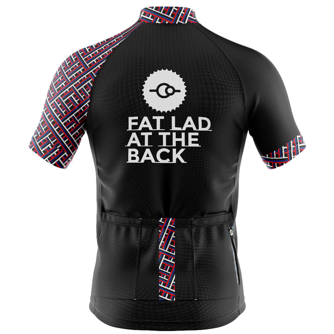 Big and Tall Mens Black Classic Cycling Jersey