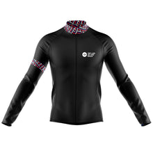 Load image into Gallery viewer, Mens Classic Black Windproof Cycling Jersey