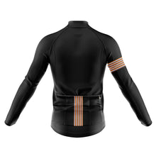 Load image into Gallery viewer, Mens Black Stripe Windproof Cycling Jersey