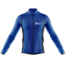 Load image into Gallery viewer, Mens Blue Classic Windproof Cycling Jersey