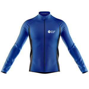 Mens Blue Classic Windproof Cycling Jersey