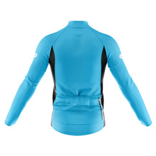 Load image into Gallery viewer, Mens Blue Nesh Midweight Cycling Jersey