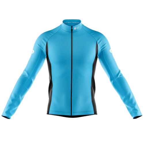 Mens Nesh Midweight Cycling Jersey in Blue