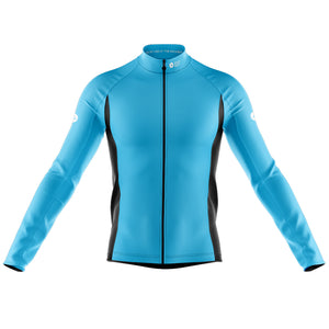 Big and Tall Mens Blue Nesh Midweight Cycling Jersey - DUE END AUGUST