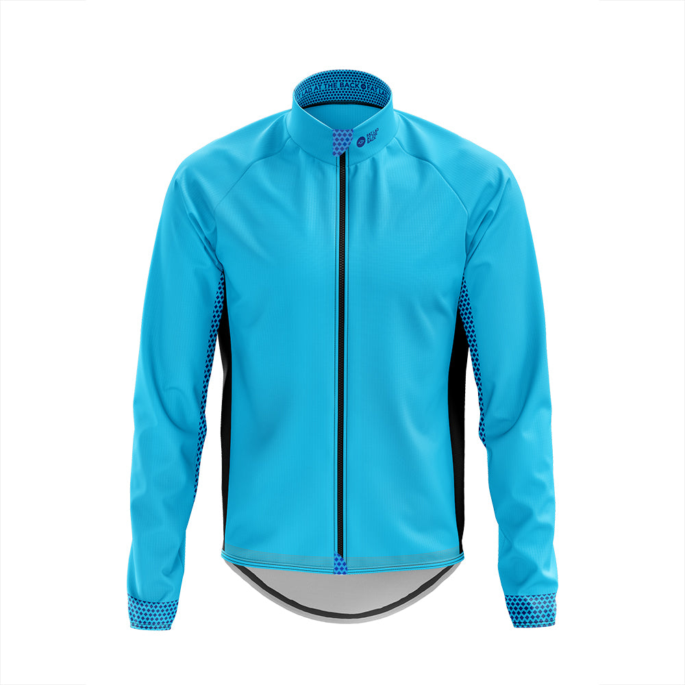 Big and Tall Mens Blue Cycling Winter Jacket