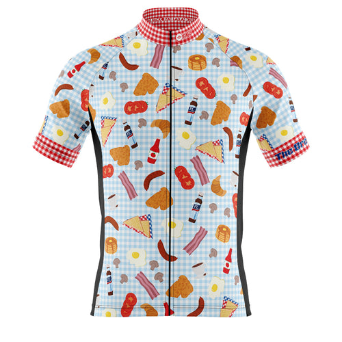 Big and Tall Mens Cove Cycling Jersey in Breakfast Club