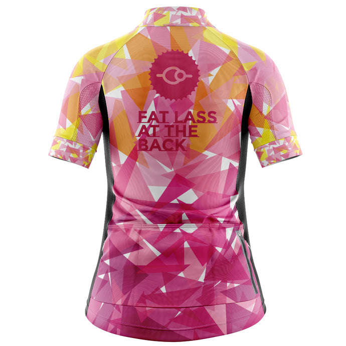 Women's Fleet Cycling Jersey in Classic Pink -SALE PRICE
