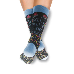 Will Ride For Cake Cycling Socks
