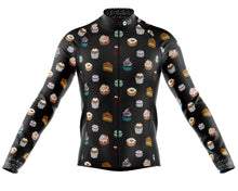 Load image into Gallery viewer, Big and Tall Mens Will Ride For Cake Midweight Long Sleeve Thermal Cycling Jersey