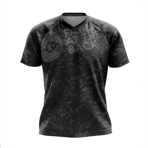 Mens Black Camo Mountain Bike Jersey
