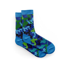 Load image into Gallery viewer, Cycling Socks in Blue Camo