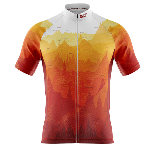 Big and Tall Mens Fleet Cycling Jersey in Continental