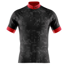 Load image into Gallery viewer, Big and Tall Mens Black Cube Cycling Jersey