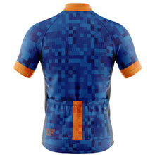 Load image into Gallery viewer, Mens Blue Cube Cycling Jersey - MORE STOCK DUE MID JULY