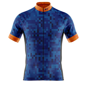 Mens Blue Cube Cycling Jersey - MORE STOCK DUE MID JULY