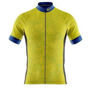 Mens Hi Vis Cube Cycling Jersey